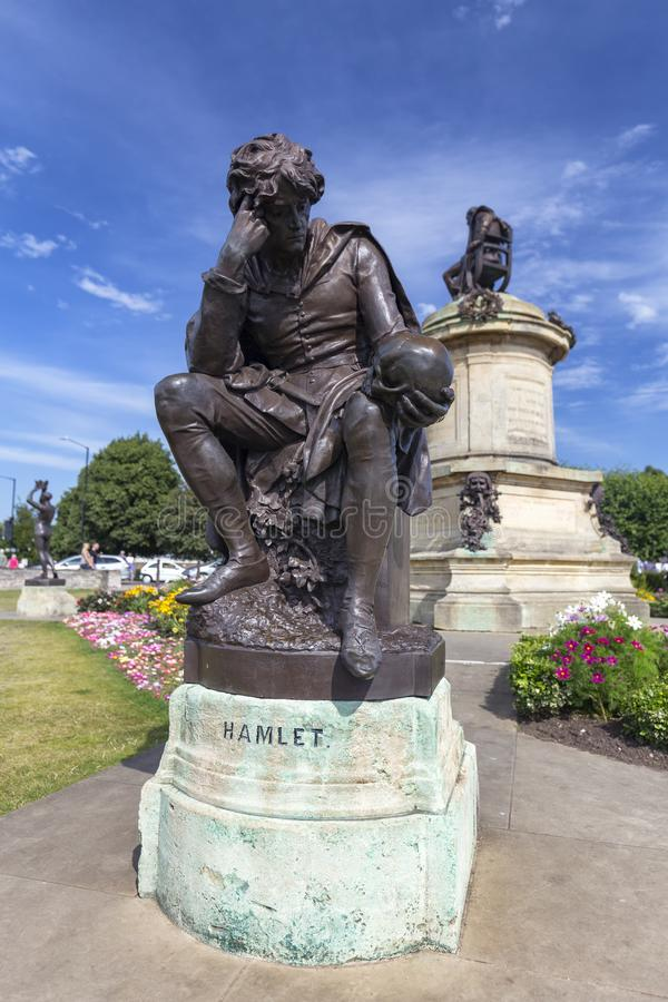 Hamlet staty royaltyfri bild