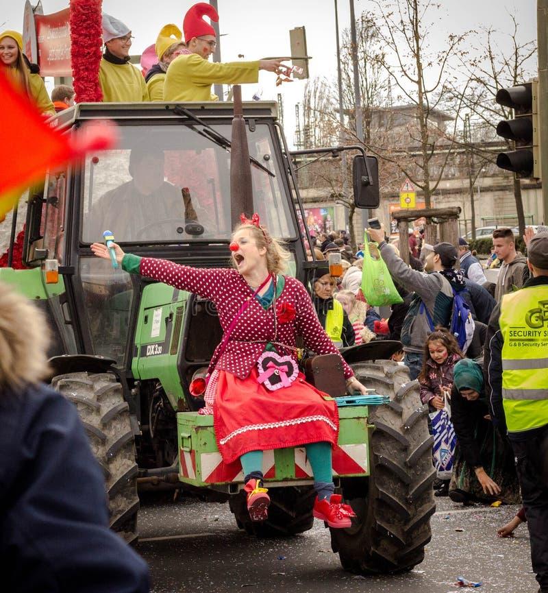 HAMM, DEUTSCHLAND NOVEMBER 2017: Karneval, Rosenmontag der Tag vor dem traditionellen Ende der Karnevalsmeere stockbild