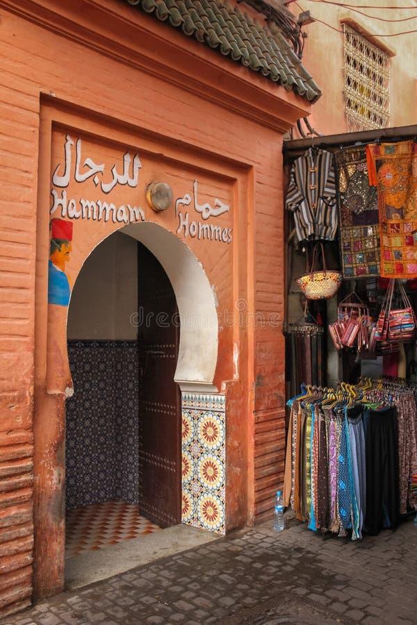 Hammam Общественная ванна для людей marrakesh Марокко стоковое изображение