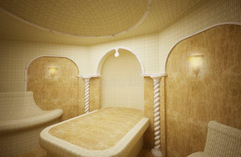 hammam turkish steam room 3 d stock illustration illustration of marble stone 23191458. Black Bedroom Furniture Sets. Home Design Ideas