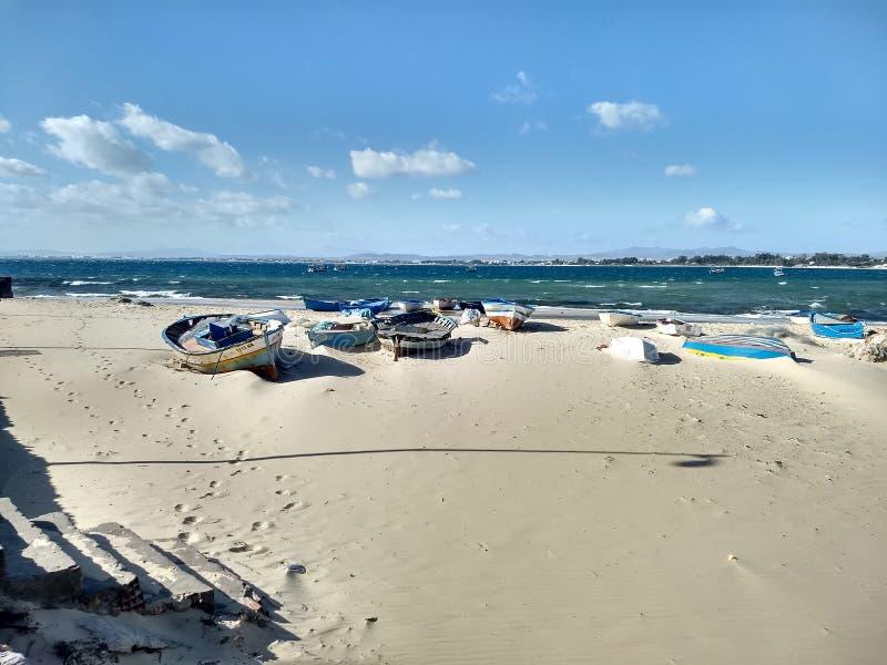 Hammamet海滩 免版税库存图片