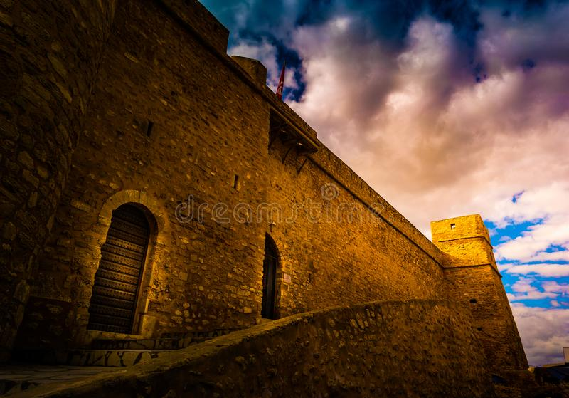 Hammamet, Túnez Imagen de la arquitectura de Medina viejo imágenes de archivo libres de regalías