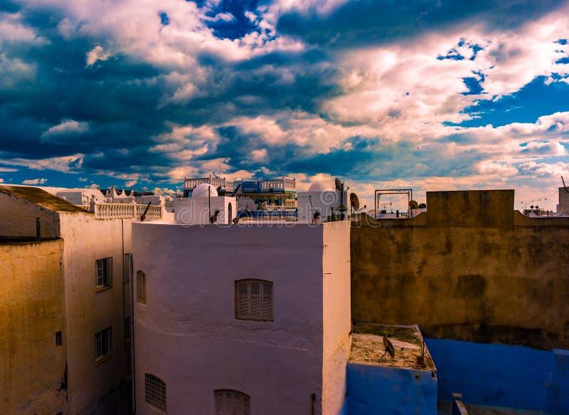 Hammamet, Túnez Imagen de la arquitectura de Medina viejo fotos de archivo