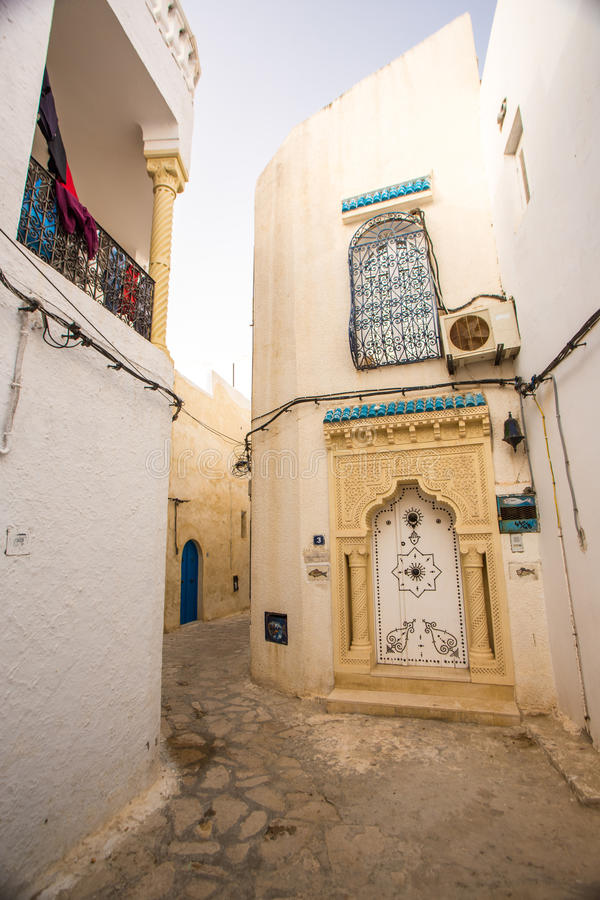 Hammamet in Tunisia. Street view of arabian town Hammamet, Tunisia stock photos