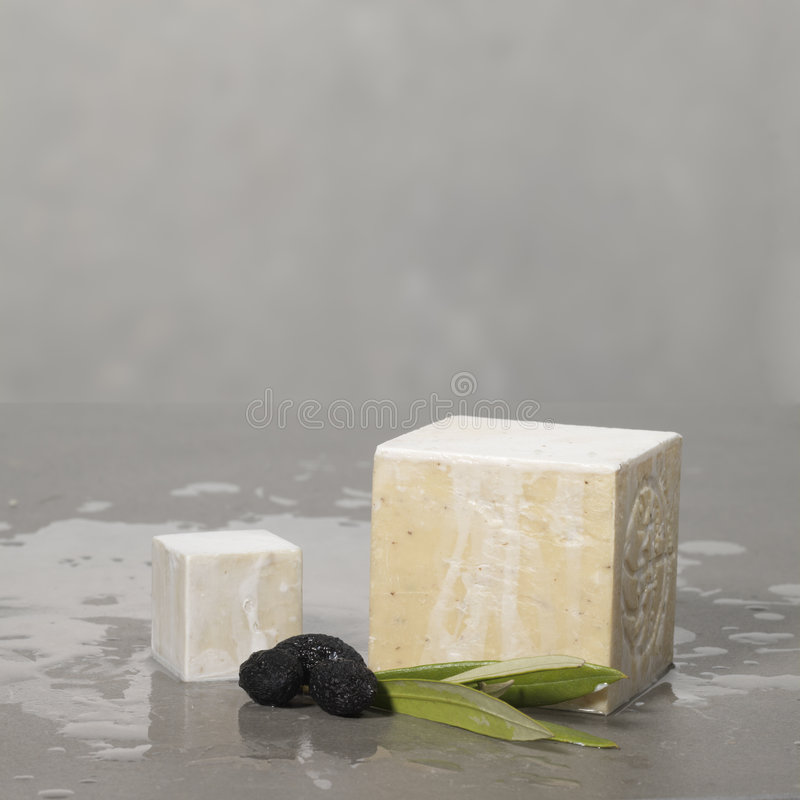 Download Hamman Scenery : Olive Soap With Black Olives And Leafs Stock Photo - Image: 1919674