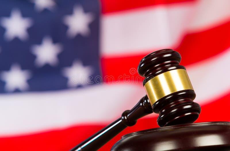 Hammare för domare s royaltyfri fotografi