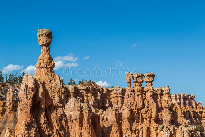 Hammare för Thor` s, Bryce Canyon arkivfoto