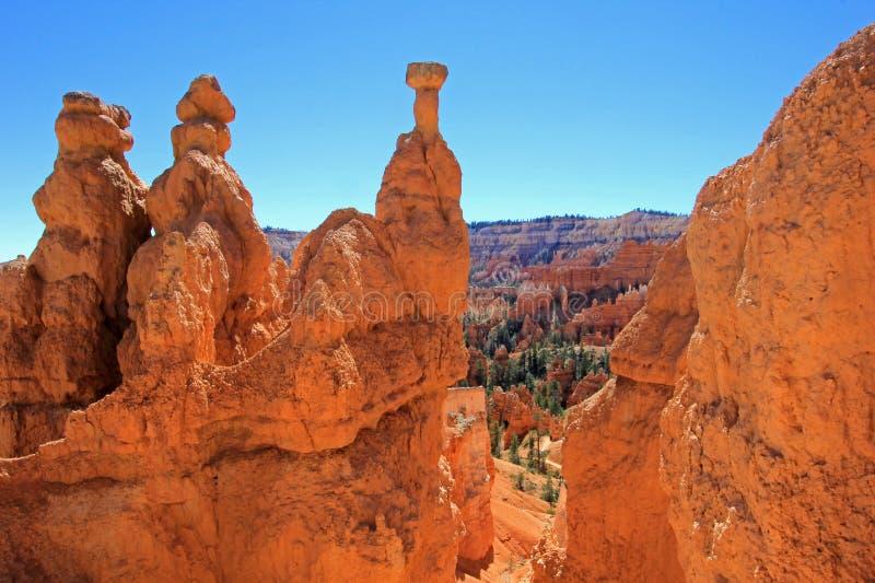 Hammare för Thor` s i Bryce Canyon National Park, Utah, Förenta staterna fotografering för bildbyråer