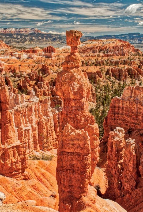 Hammare för Thor` s i Bryce kanjonnationalpark arkivfoto