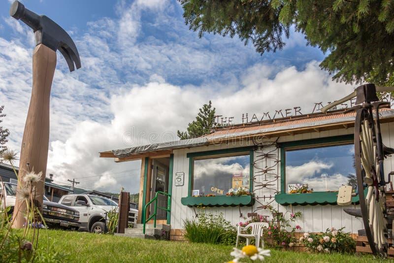 Hammaremuseet i Haines, Alaska fotografering för bildbyråer