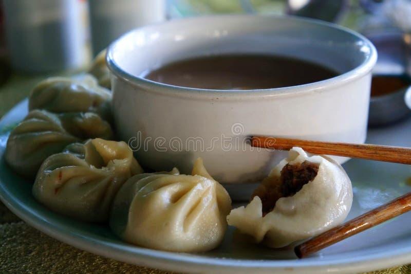 Hammelfleisch Momo Soup stockfotografie