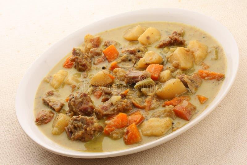 Hammelfleischeintopfgericht mit Gemüse lizenzfreies stockbild