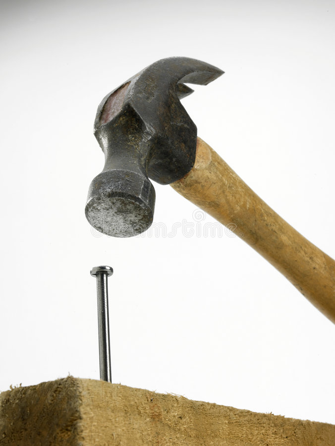 Free Hammer And Nail Royalty Free Stock Photos - 5937238