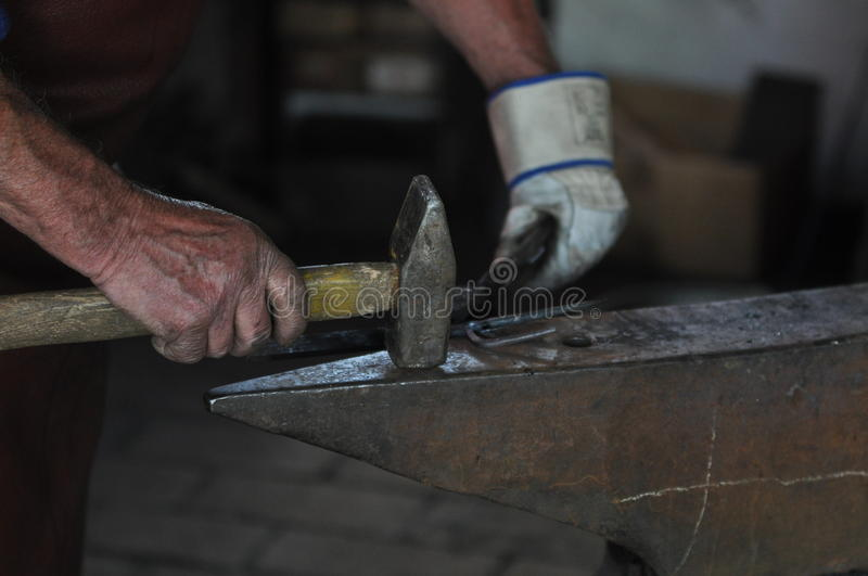 Download Hammer and anvil stock image. Image of craft, foundry - 30945765