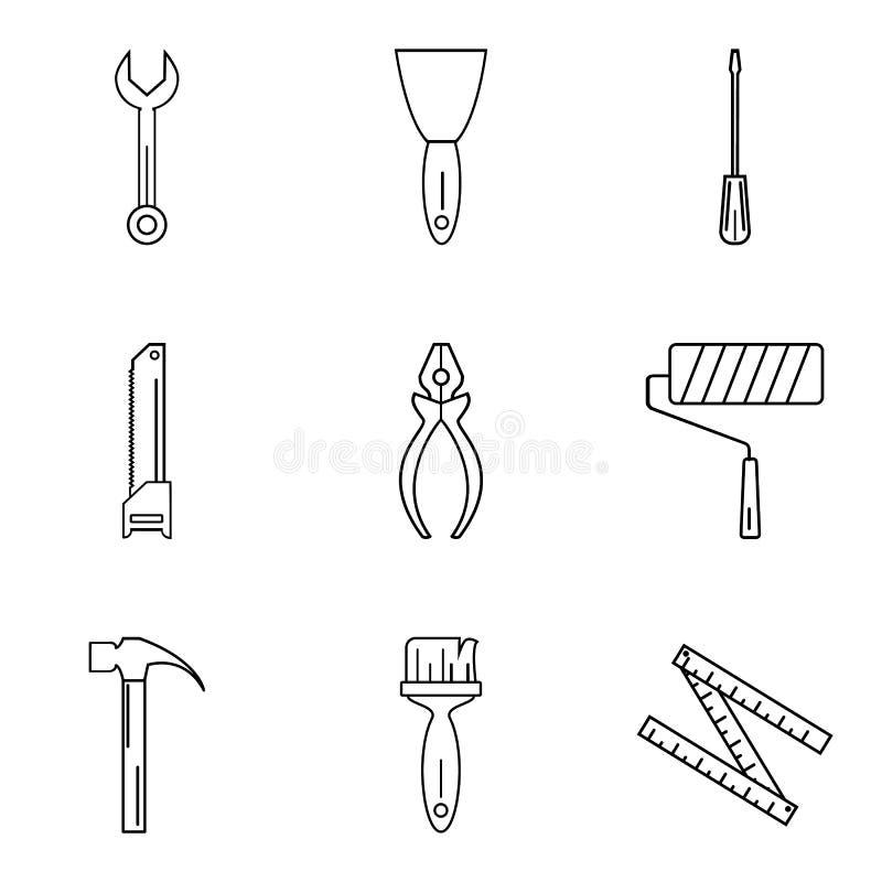 Hammer auf dem fenster reparieren sie lineare ikonen for Fenster hammer