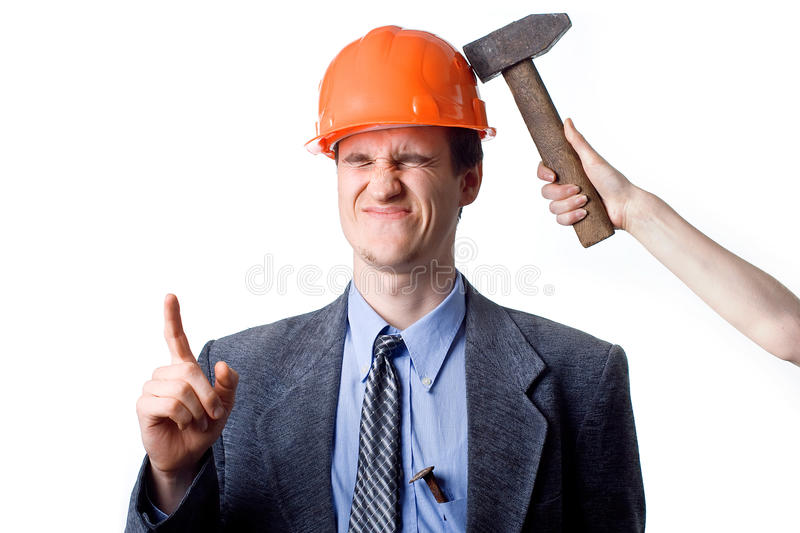 Download Hammer beat stock image. Image of face, blue, headwear - 10235411