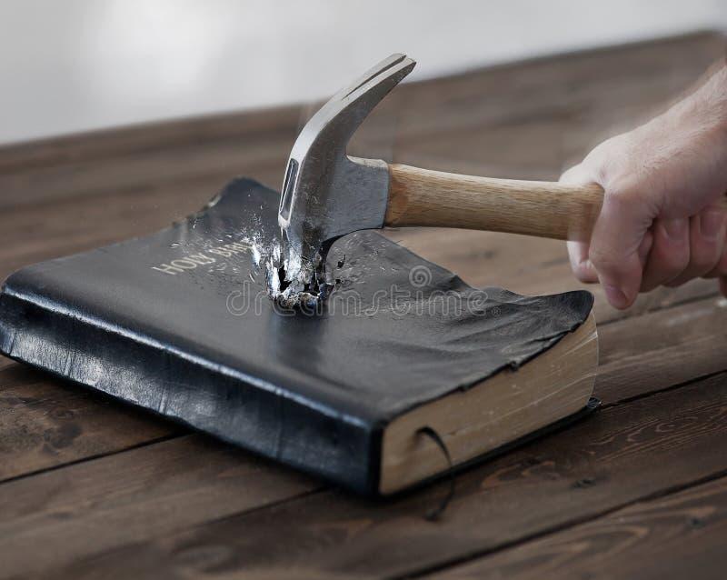 Hammer and Bible stock photos