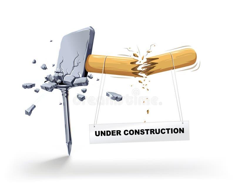Download Hammer Broken Striking A Nail Stock Vector - Image: 4225608