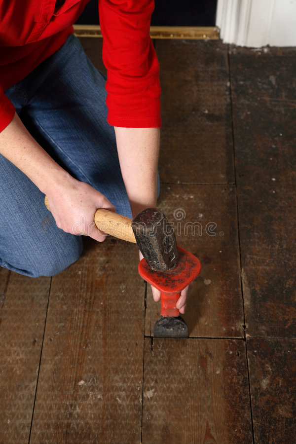Hammer and chisel stock photography