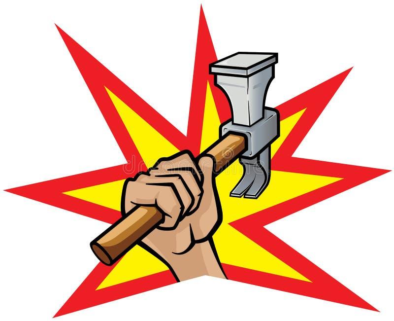Hammer Down vector illustration