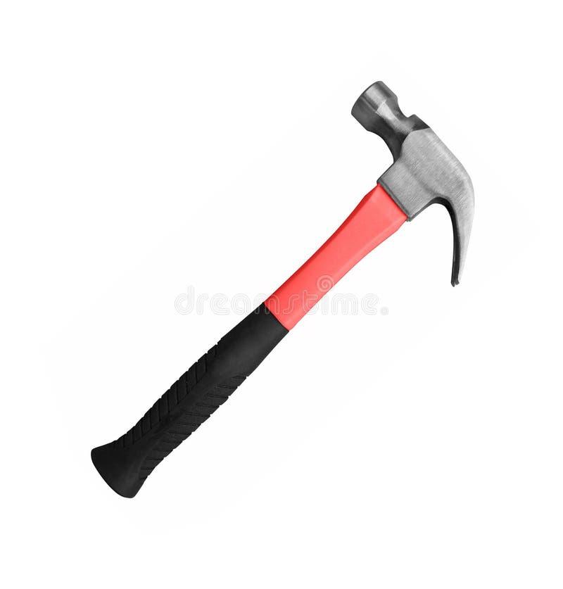Hammer getrennt auf Weiß stockfotografie