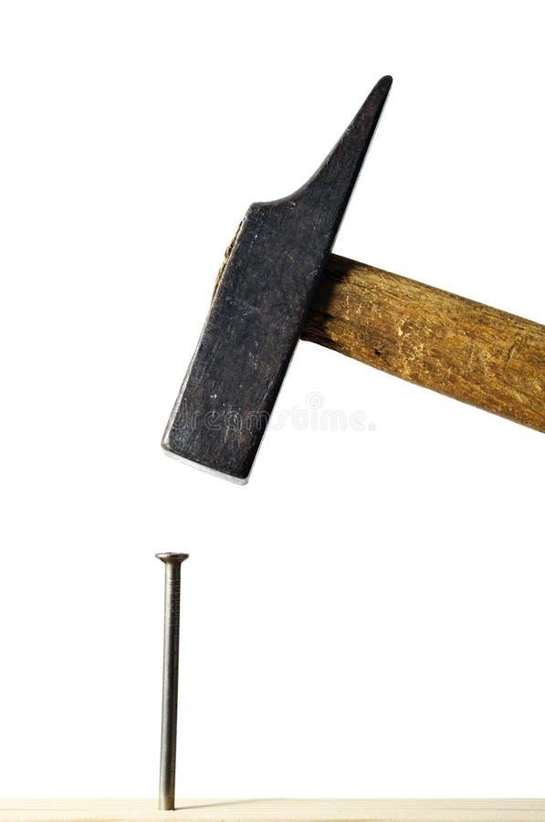 hammer gwóźdź obrazy stock