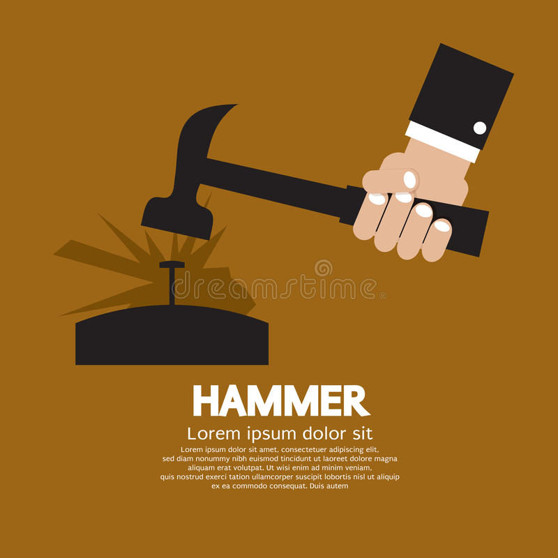 Download Hammer stock vector. Illustration of construction, power - 39508075