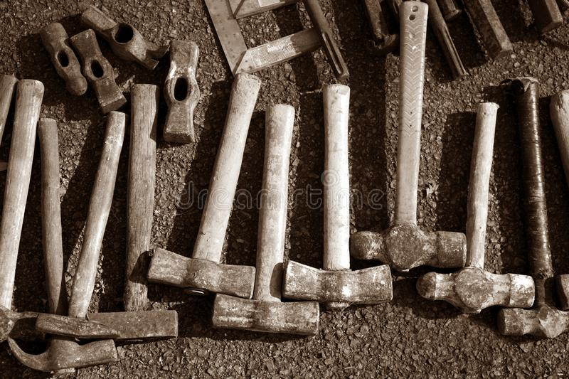 Download Hammer Handtools Hand Tools Collection Pattern Stock Image - Image: 15160551
