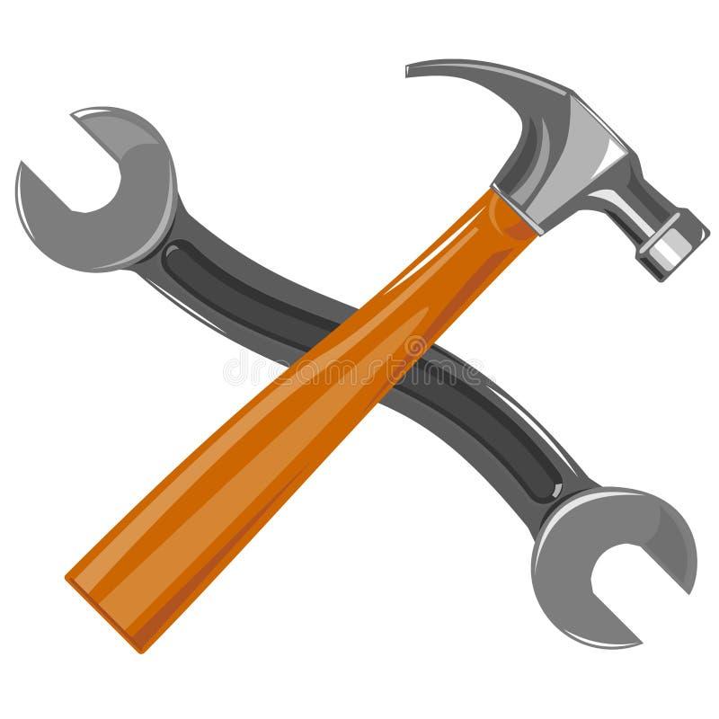 hammer klucza ilustracja wektor
