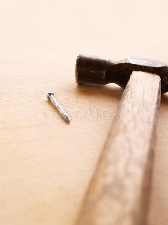 Hammer and nail stock photography