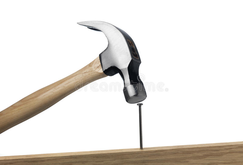 Hammer and Nail stock photo