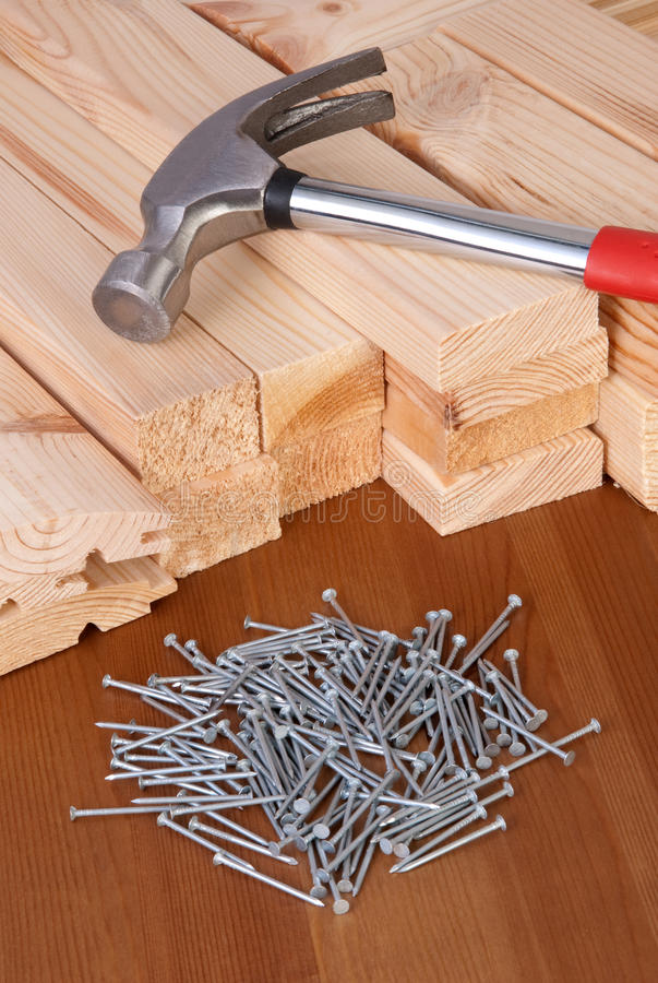 Download Hammer and nails stock image. Image of timber, hand, tool - 28204669