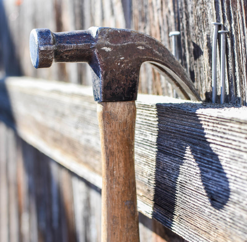 Hammer and Nails Background stock photo