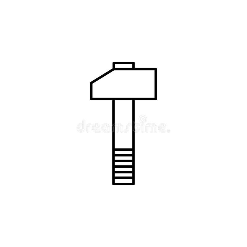 Hammer, Schlüssel, Werkzeugentwurfsikone Kann für Netz, Logo, mobiler App, UI, UX verwendet werden lizenzfreie abbildung