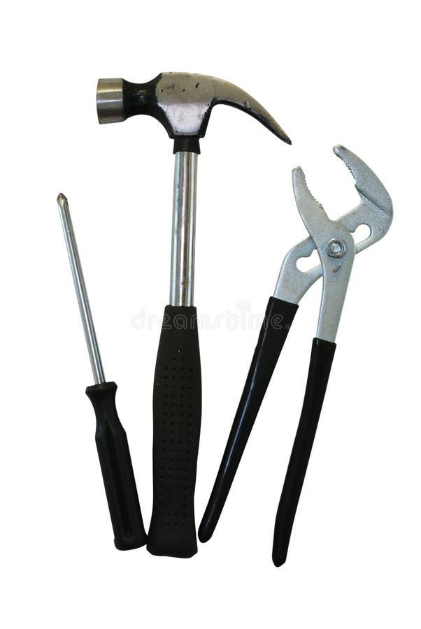 Hammer, Schraubendreher und Adjus stockfotografie