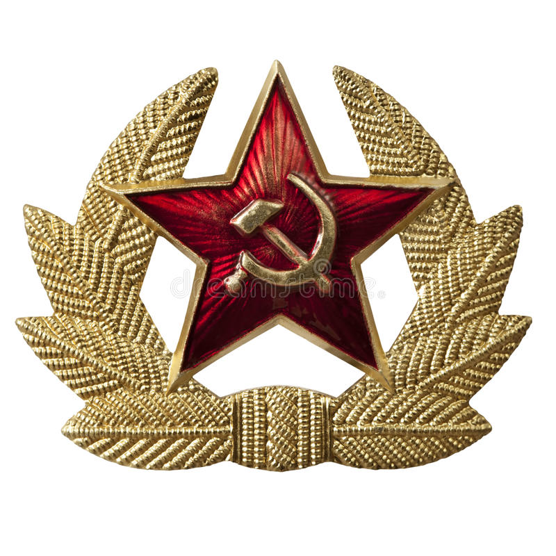 Download Hammer and Sickle Badge stock photo. Image of white, communist - 14855108