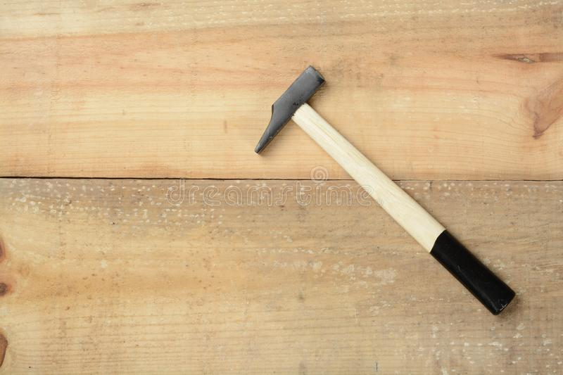 Hammer. On the table, work tool royalty free stock images