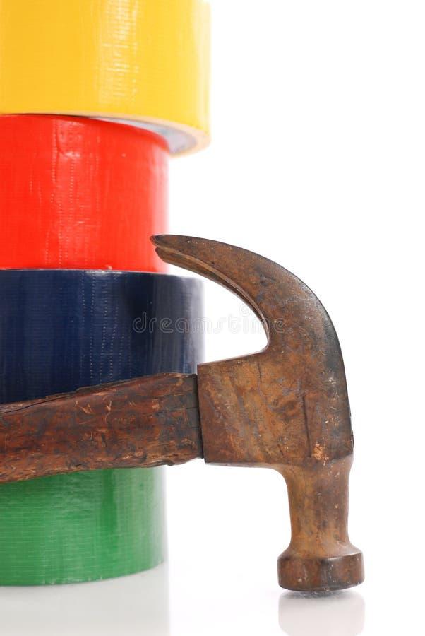 Hammer und Band stockbild