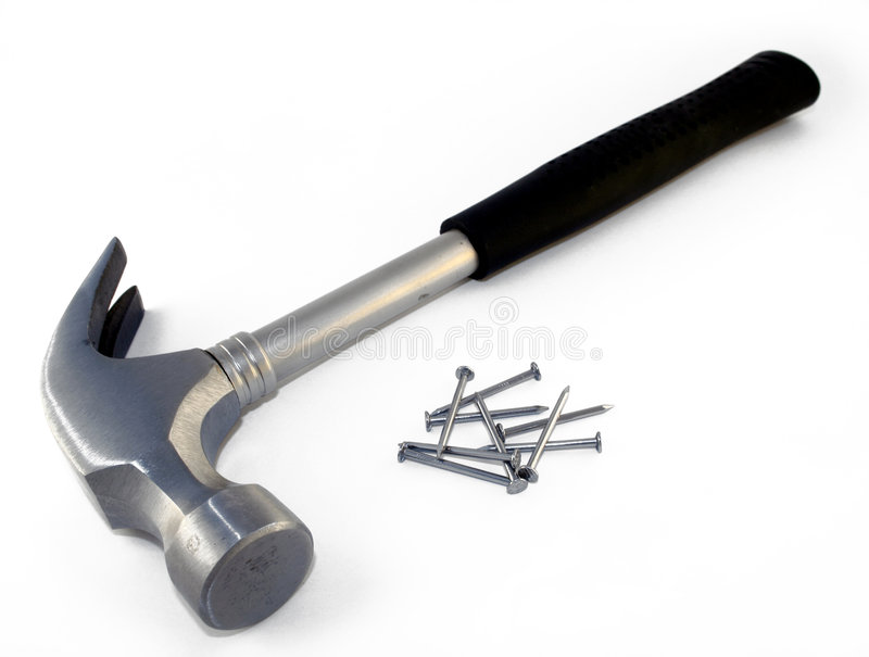 Hammer und Nägel #1 lizenzfreie stockbilder