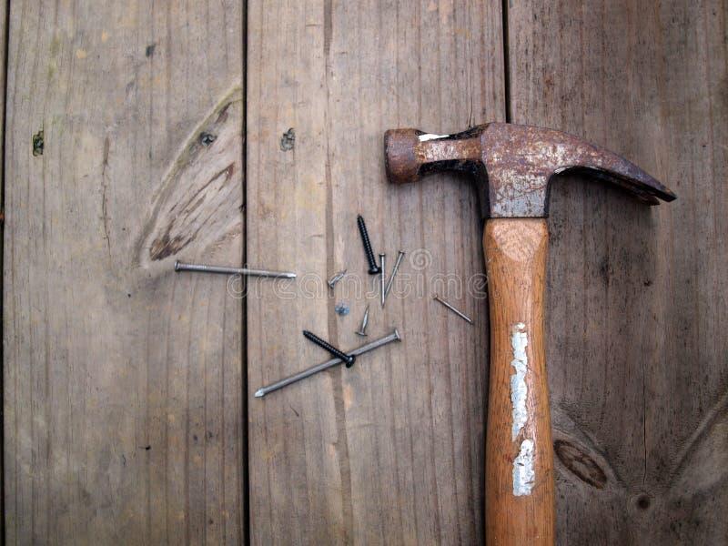 Hammer und Nägel 6 lizenzfreie stockfotografie
