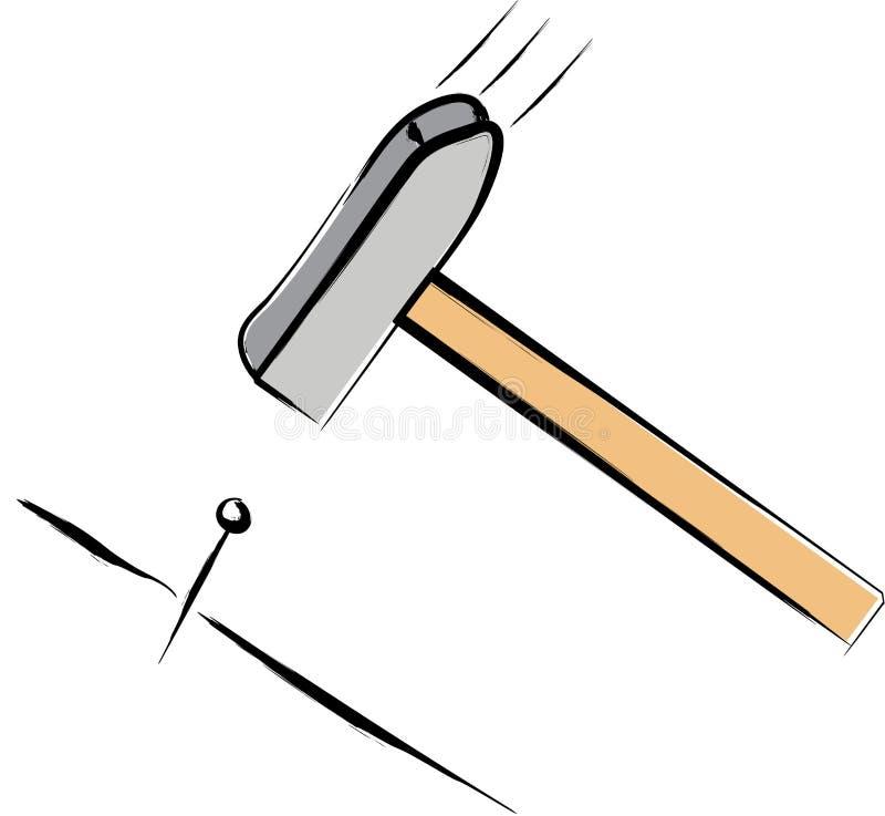 hammer und nagel vektor abbildung bild von kraft tischler 14518325. Black Bedroom Furniture Sets. Home Design Ideas