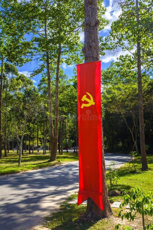 Hammer und Sichel-Sowjetflagge lizenzfreie stockfotografie