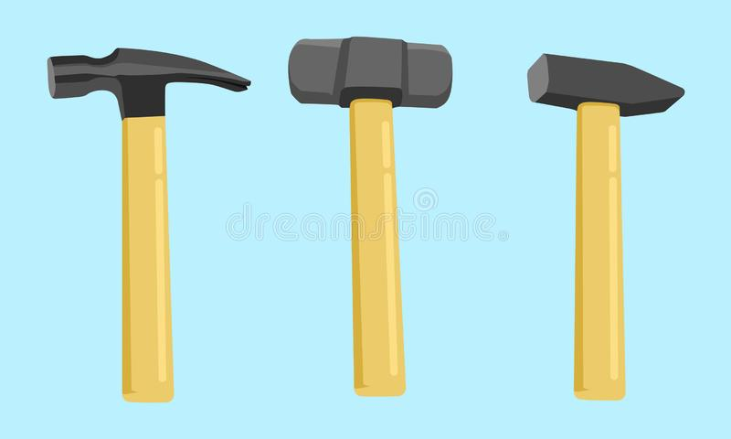 Hammer Icon Vector Illustration stock illustration