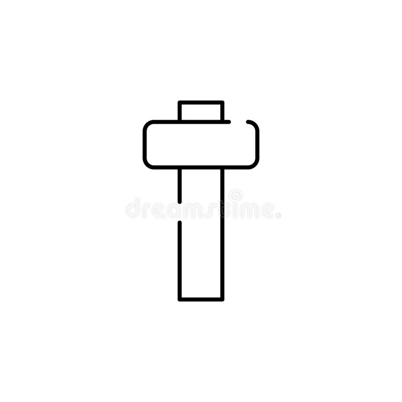 hammer for wood icon. Element of construction for mobile concept and web apps illustration. Thin line icon for website design and royalty free illustration