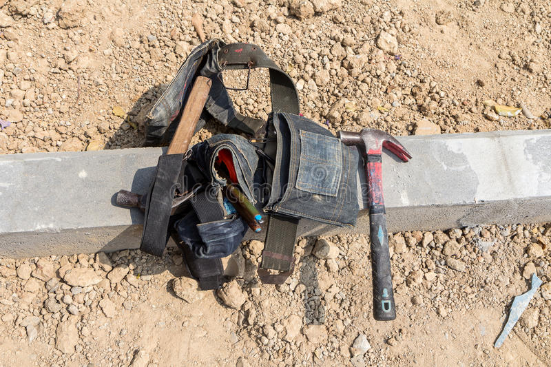 Hammer and work tools stock photography