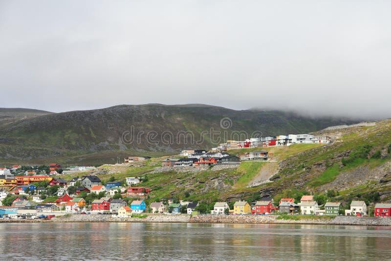 Hammerfest-Stadt stockfoto