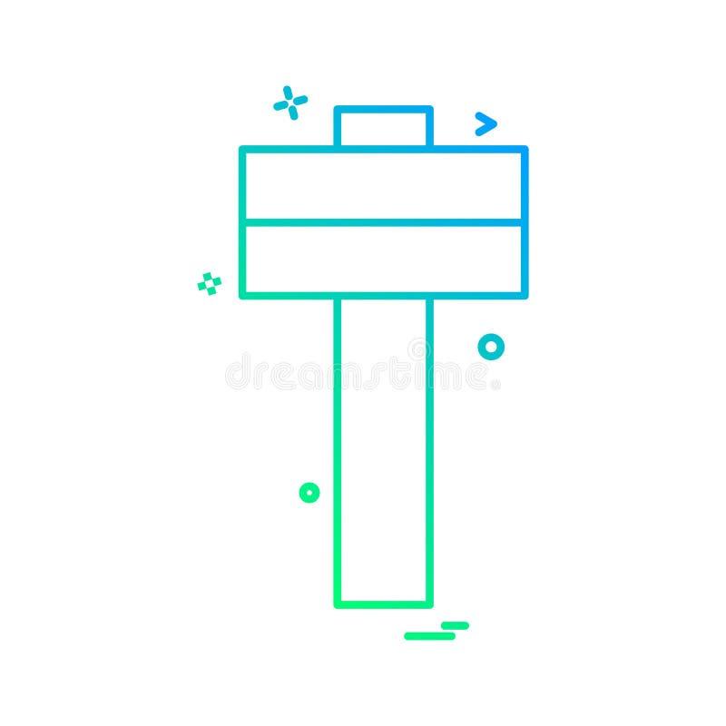 Hammerikonen-Vektordesign vektor abbildung