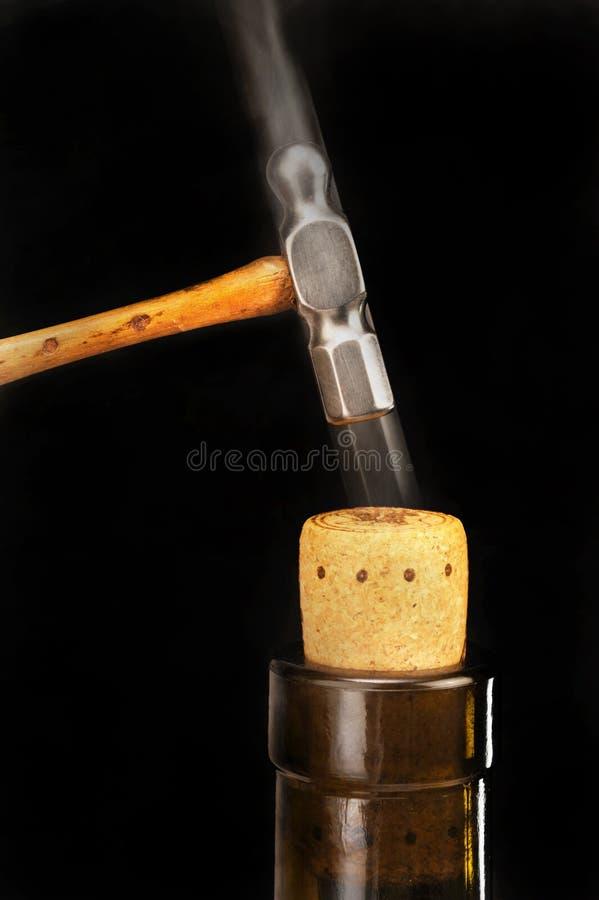 Download Hammering Cork In. stock photo. Image of glass, streak - 17964590