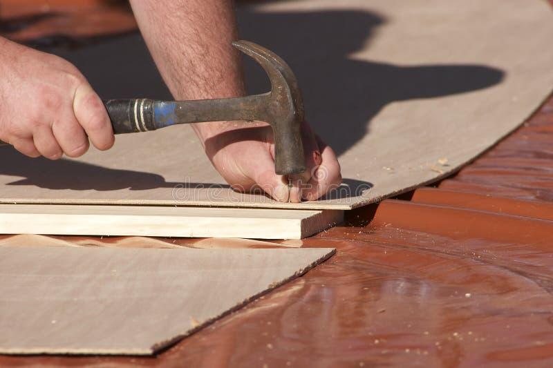 Download Hammering in a nail stock photo. Image of hammer, nail - 392750