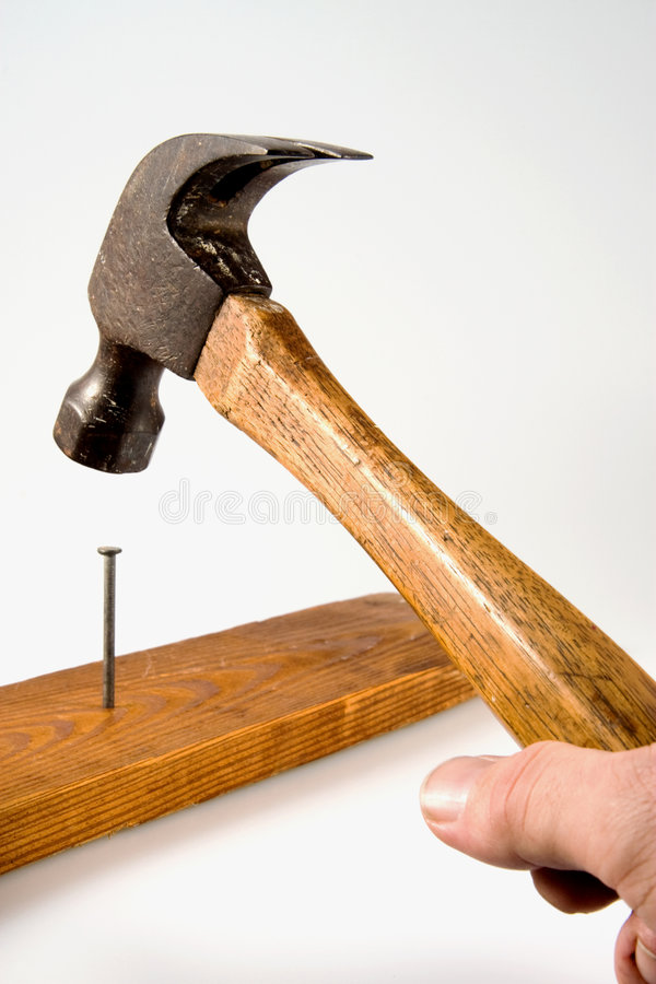 Download Hammering Nail stock image. Image of parts, blows, background - 4065755